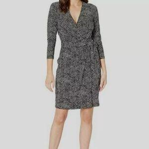 Margaret o'leary Black V- Neck Wrap Dress